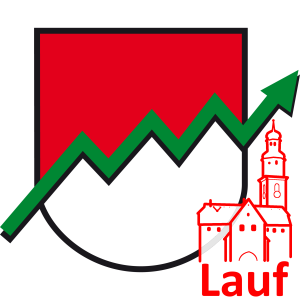 Die Franken Wappen Lauf_mit_Kirche